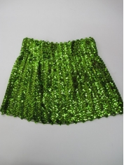 Sequin Skirt Green - Disco Party Costumes
