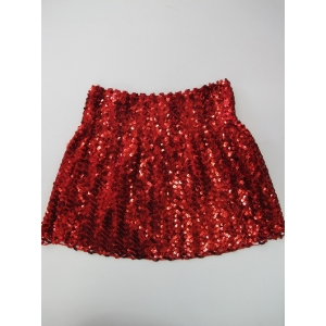 Sequin Skirt Red - Disco Party Costumes