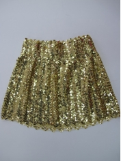 Sequin Skirt Gold - Disco Party Costumes