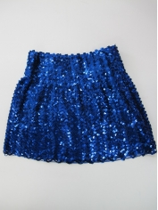 Sequin Skirt Black - Disco Party Costumes