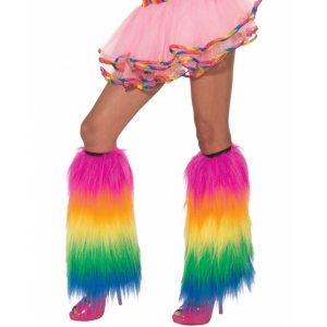 Long Rainbow Leg Warmers - Mardi Gras Costumes