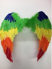 Large Rainbow Colored Angel Wings