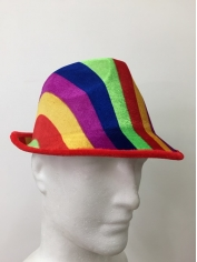 Rainbow Coloured Trilby - Mardi Gras Costumes
