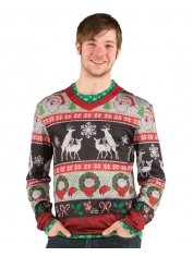Ugly Frisky Deer Sweater - Adult Christmas Costumes
