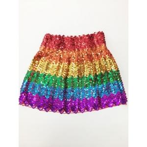 Rainbow Sequin Skirt - Mardi Gras Costumes