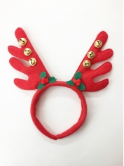 Red Reindeer Antlers - Christmas Accessories