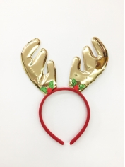 Metallic Gold Reindeer - Christmas Headbands