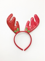 Metallic Red Reindeer - Christmas Headbands