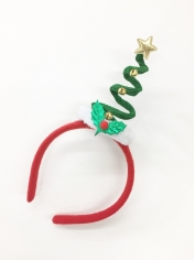 Green Christmas Tree Coil Spring Hat