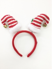 Mini Santa Hats Red White Striped - Christmas Headbands