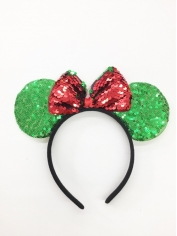 Green Mouse - Christmas Headband