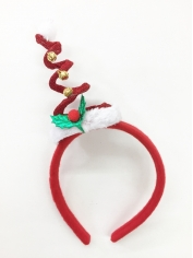 Red Christmas Tree Coil Spring Hat