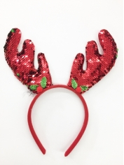 Red Sequin Reindeer - Christmas Headband