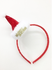 Red Mini Santa Hat on Headband