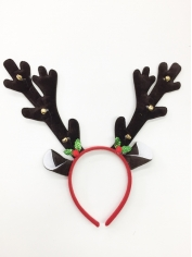 Dark Brown Reindeer Headband - Christmas Headbands
