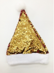 Gold Sequin Santa - Christmas Hats