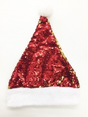 Red Sequin Santa - Christmas Hats