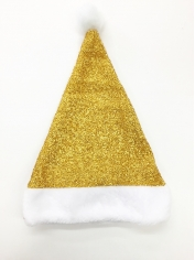 Gold Glitter Santa Hat - Christmas Hats