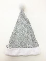 Silver Glitter Santa Hat - Christmas Hats