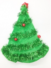 Green Christmas Tree Santa Hat