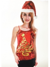 Christmas Tree Sequin Singlet - Christmas Costumes