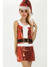 I Love Santa Sequin - Girl Christmas Costumes