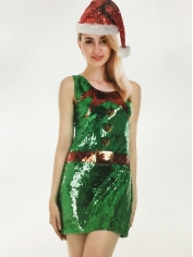 ELF Christmas Sequin Dress - Christmas Costumes