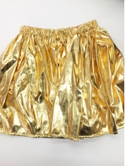 Gold Metallic Skirt - Christmas Costumes