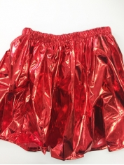 Red Metallic Skirt - Christmas Costumes