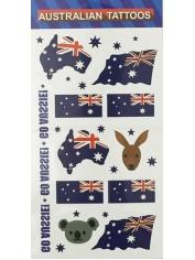 6 Piece Aussie Tattoos