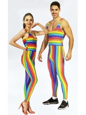 Rainbow Unitard - Adult Mardi Gras Costumes