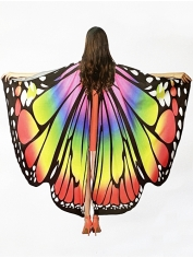 Rainbow Deluxe Butterfly Wings - Adult Mardi Gras Costumes