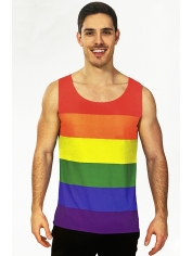 Rainbow Stripe Tank Top - Mardi Gras Costumes
