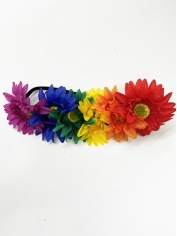 Rainbow Flower Headband - Mardi Gras Costumes