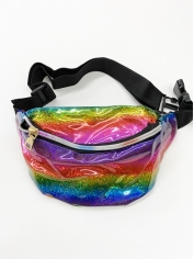 Rainbow Metallic Bum Bag - Mardi Gras Costumes