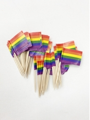 Rainbow Flag Toothpicks - Mardi Gras Accessories