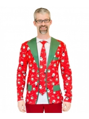 Christmas Suit and Tie Top - Adult Christmas Costumes
