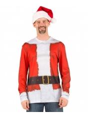 Santa Suit Long Sleeve Top - Adult Christmas Costumes