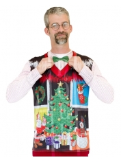 Noel Christmas Sweater with Bow Tie - Adult Christmas Costumes