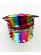 Metallic Rainbow Flip Hat - Mardi Gras Hats