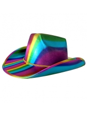 Metallic Rainbow Cowboy Hat - Mardi Gras Costumes Accessories