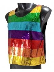 Rainbow Sequin Singlet - Mardi Gras Costumes