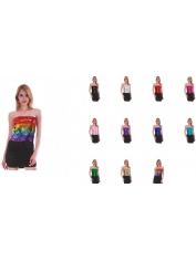 Colour Sequin Tube Top - Mardi Gras Costumes
