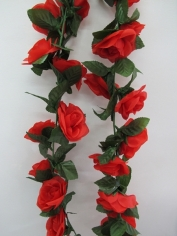Artificial Rose Flower Vine - Red