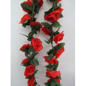 Artificial Rose Flower Vine - Red