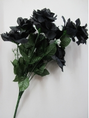 Black Rose - Artificial Flowers