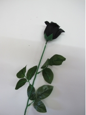 Single Black Rose - Artificial Flowers