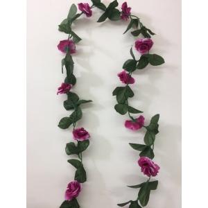 Artificial Rose Flower Vine - Purple