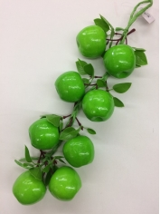 Green Apple on String - Fake Fruit