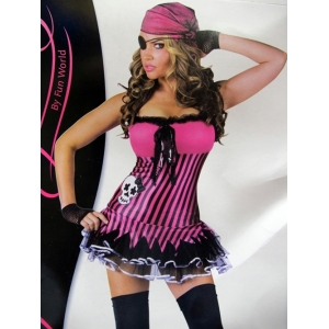 Womens Rockin Skull Pirate Costume